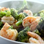 Buttered Garlic Shrimp and Broccoli