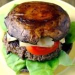 Bunless Portobello Mushroom Burger