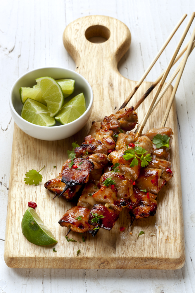 If you need to lose weight but don't know what to order at a Vietnamese restaurant, try the satay skewers.