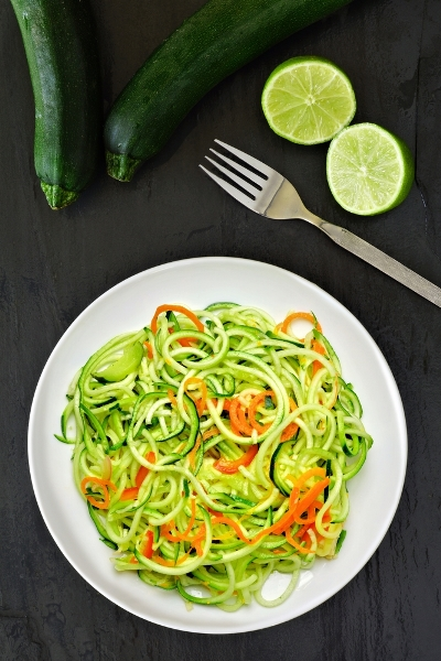 Pin this to follow Personal Trainer Food Guidelines to lose 10 to 20 pounds in just one month with delicious foods like zucchini noodles.
