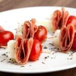 Salami Caprese Bites
