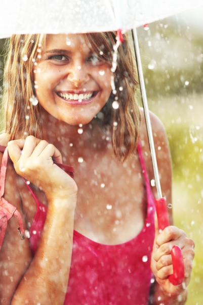 Pin this for happy things: There's nothing like cool summer rain on a hot day.