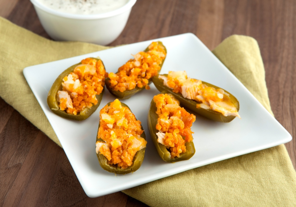 Try this fun low-carb recipe for low-carb stuffed jalapeno poppers from Personal Trainer Food today!