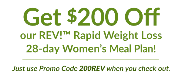 Get $200 off REV womens meal plan