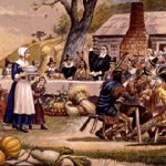 Pilgrims Indian First Thanksgiving
