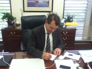 Senator Thad Altman Signs Personhood Amendment