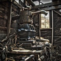 Boom Times - Engine room of an abandoned mine in Colorado