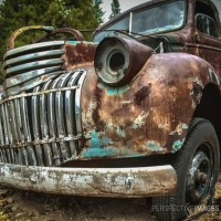 Road Warrior - A vintage Chevy truck that has seen better days