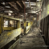 Walk This Way - The crumbling walk way of a gold mine sluice house