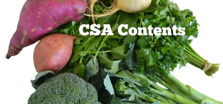 CSA Box Contents (#12)