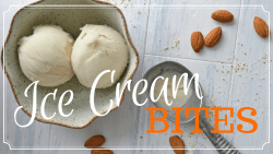 Bite sized almond coated ice cream recipe