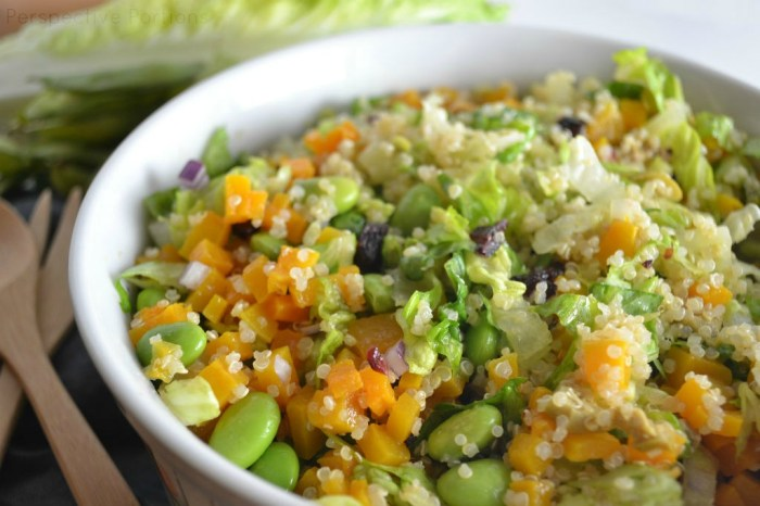 Colorful and refreshing citrus quinoa salad.