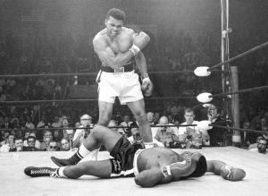 Cassius Clay's phantom punch gets the job done!