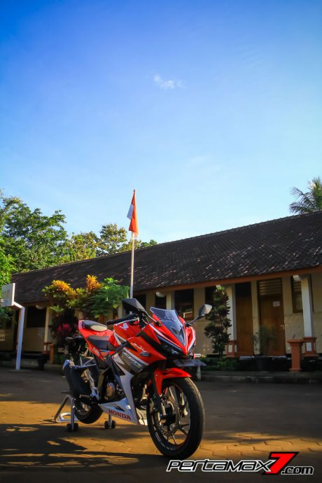 All New Honda CBR150R Background Bendera Merah Putih Pertamax7.com