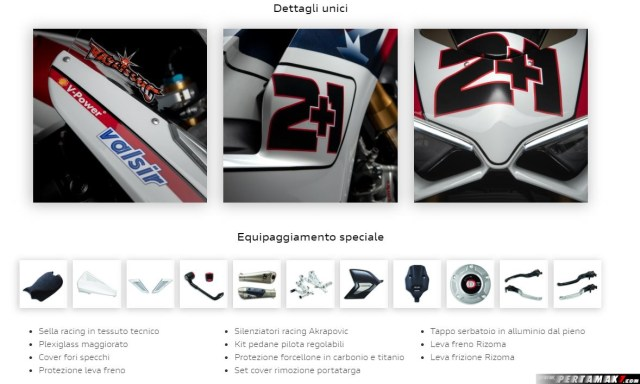 Detail parts Ducati Panigale V4 S Troy Bayliss Race of Champions