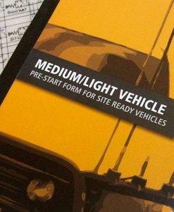 Medium Light Vehicle Pre Start Checklist