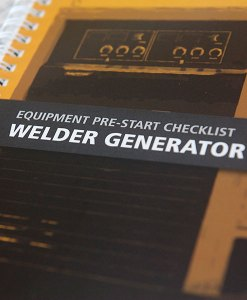 Welder Generator Pre Start Checklist Books