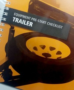 Trailer Pre Start Checklist Books