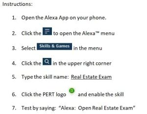 Study for the Florida Real Estate Exam with the ALEXA Study Skill
