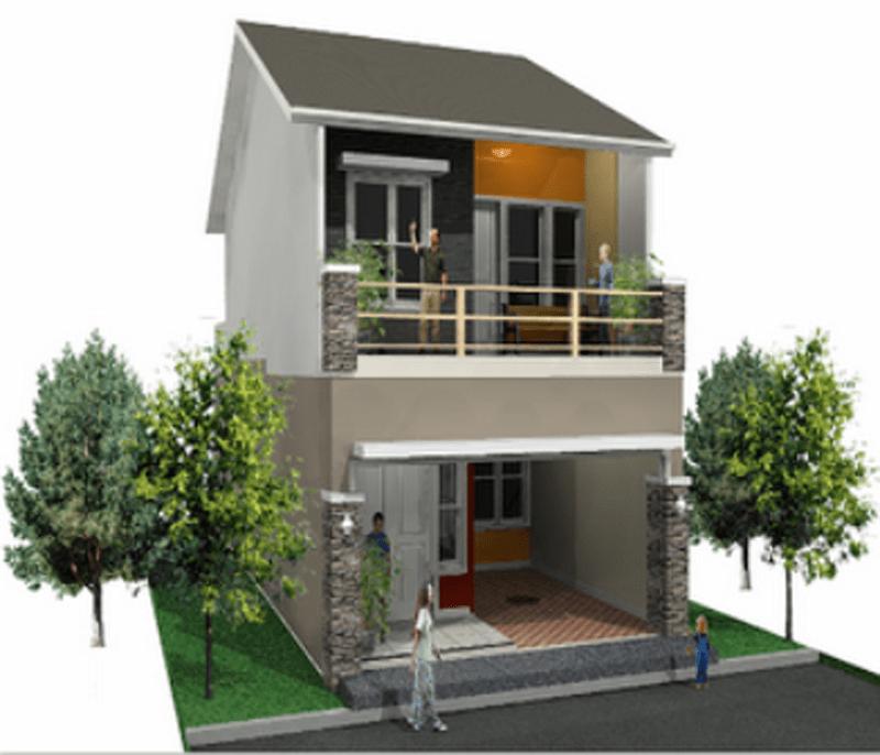 Contoh Gambar Desain Rumah Minimalis Type 45 1 Dan 2 Lantai Cocok Di