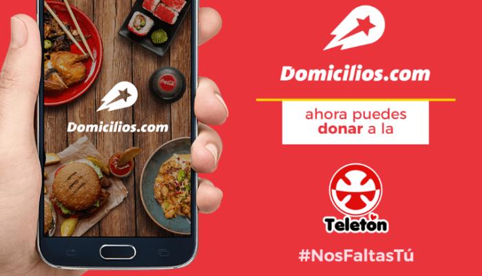 NP – Domicilios.com habilita su app para donaciones a la Teletón