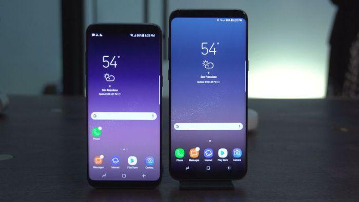 Así se comparan el Galaxy S8+ y el Galaxy Note 8 en tamaño