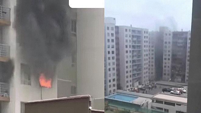 Explosión de celular incendió departamento en San Miguel