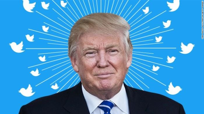 Si Donald Trump deja de usar Twitter ellos perderían 1/5 de su valor