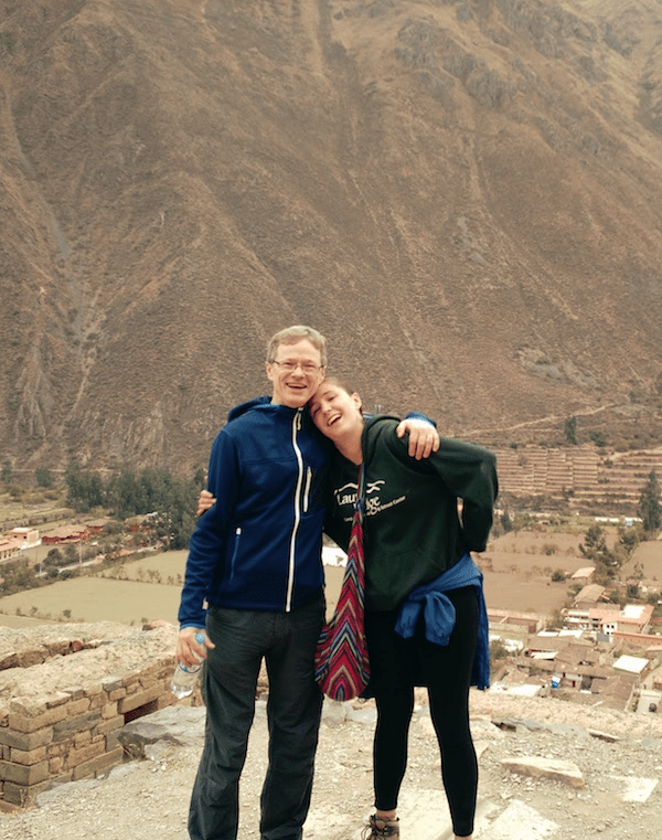 Micheal and Sofia at Ollantaytambo
