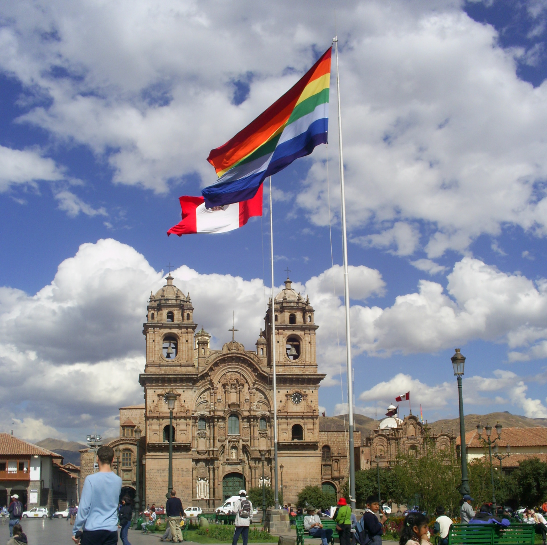 Flags in the Plaza de Armas, Cuzco