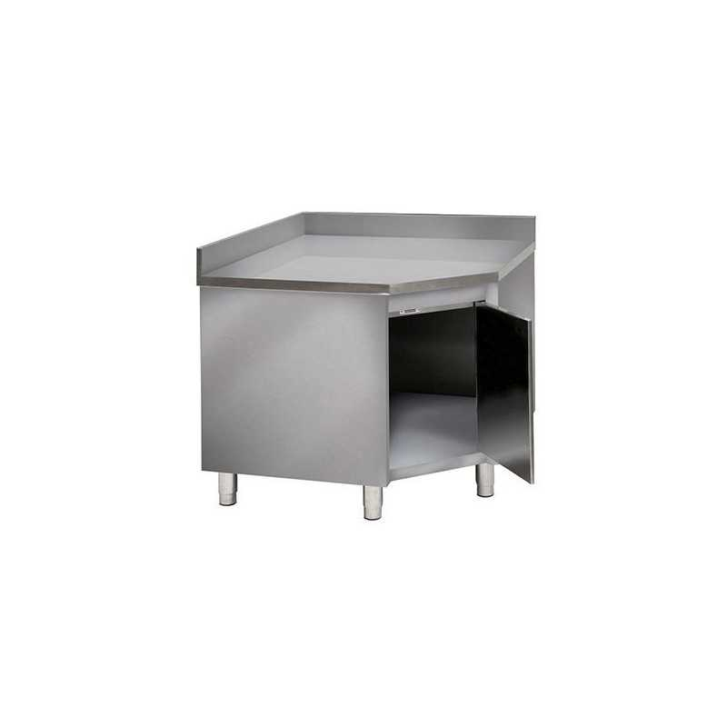 armoire murale d angle inox adossee