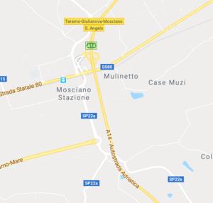 fiume Tordino altezza Mosciano