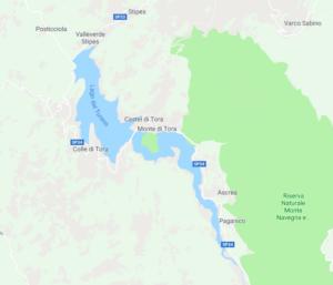 lago del turano piantina