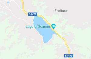 cartina stradale per il lago di scanno