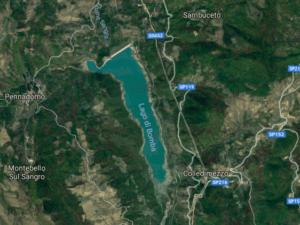 Lago di Bomba visto da sopra
