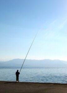 pesca con canna fissa