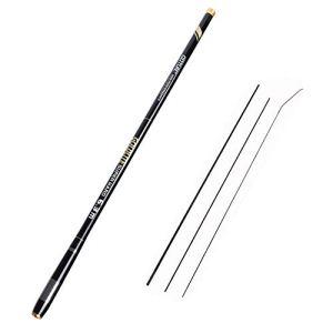 Goture Canna da pesca telescopica in fibra di carbonio ultra leggera per pesca spinning o alla carpa 10FT 12FT 15FT 18FT 21FT 24FT + Top 3 Segmenti