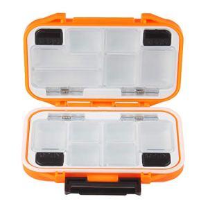 Andux Funzione Multipla Scatola da Mosca Impermeabile Two Side di plastica Pesca a Mosca FDH-08 Arancione