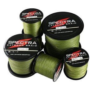 Spectra Extreme Braid, lenza da pesca intrecciata colore verde militare
