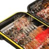 FISHINGSIR Fly Fishing Flies Kit- 64/100/120PCS Handmade Fly Fishing Lures- Secco/Umido Mosche, Streamer, Nymph, Emerger con Impermeabile Fly Box