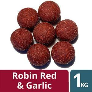 OURONS 20mm Carpa Boiles Aglio & Robin Red Boilies Carpfishing Premium Testato Esche da Pesca 1kg