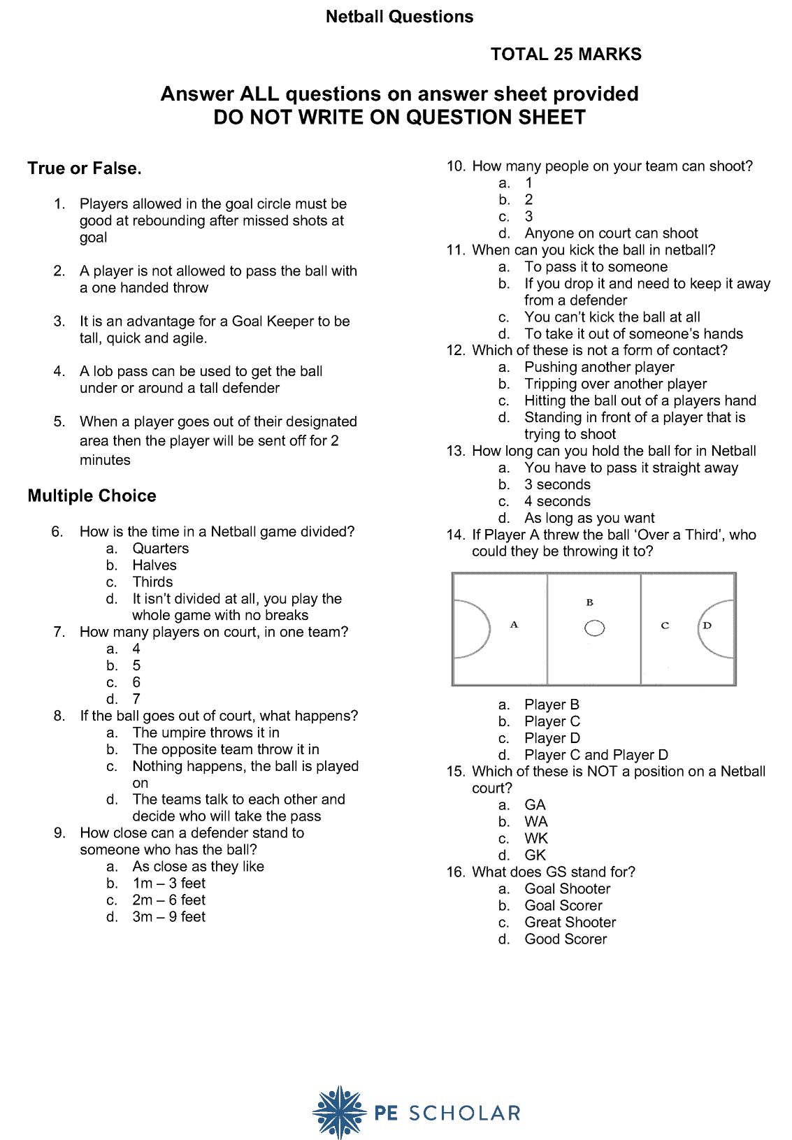 Netball Quiz