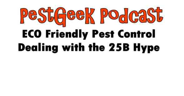 ECO Friendly Pest Control Dealing with the 25B Hype