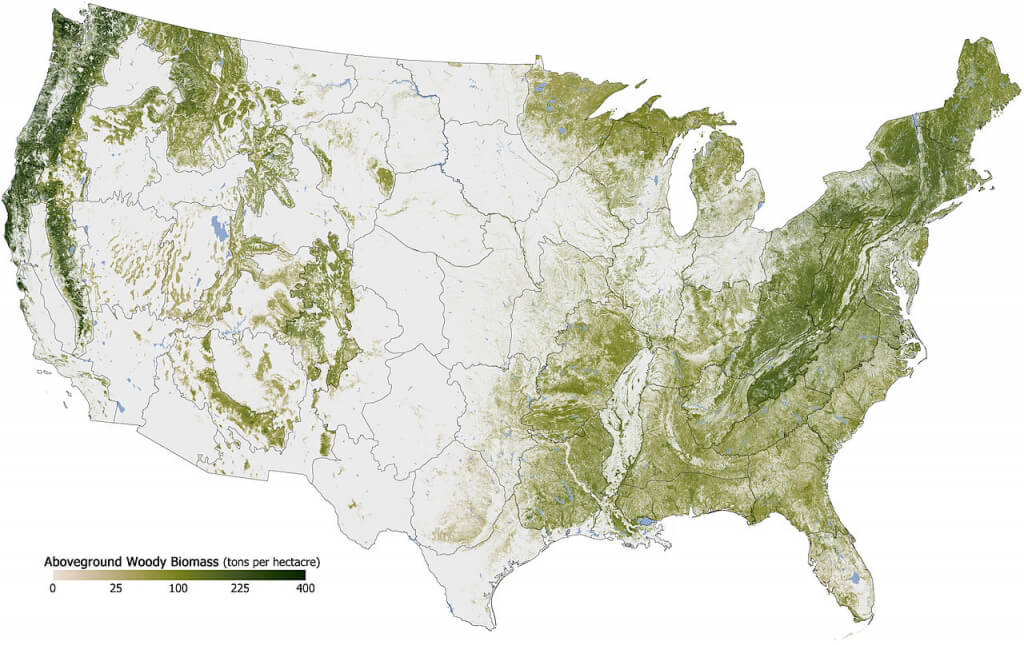 Map of Deforestation in the US
