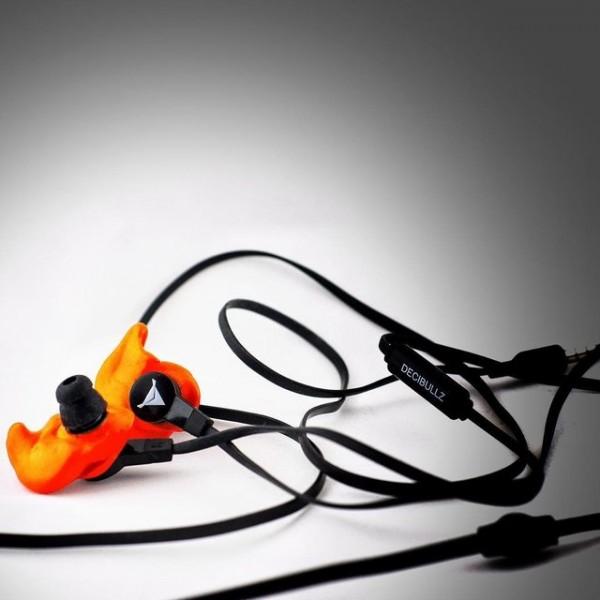 Decibullz Orange Molded Earphones