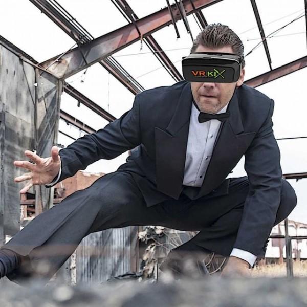 sublime gadgets vr kix virtual reality smartphone headset sublime