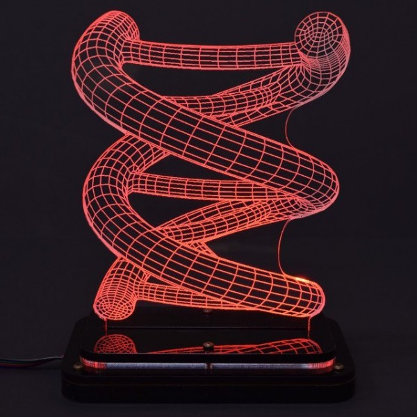 DNA 3D Illusion Light Sculpture