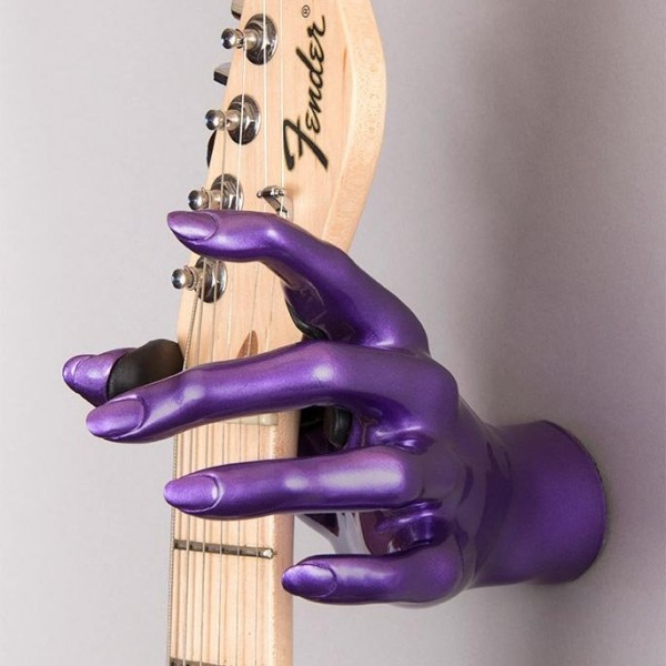 Purple Metallic Female Hand GuitarGrip Guitar Hanger