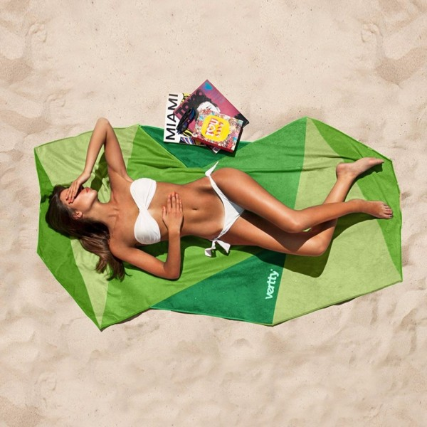 Classic Green Vertty Beach Towel