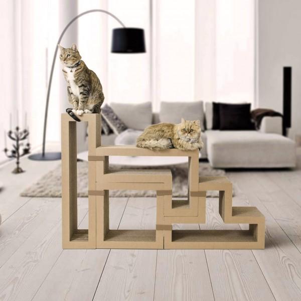 Katris Modular Cardboard Cat Furniture